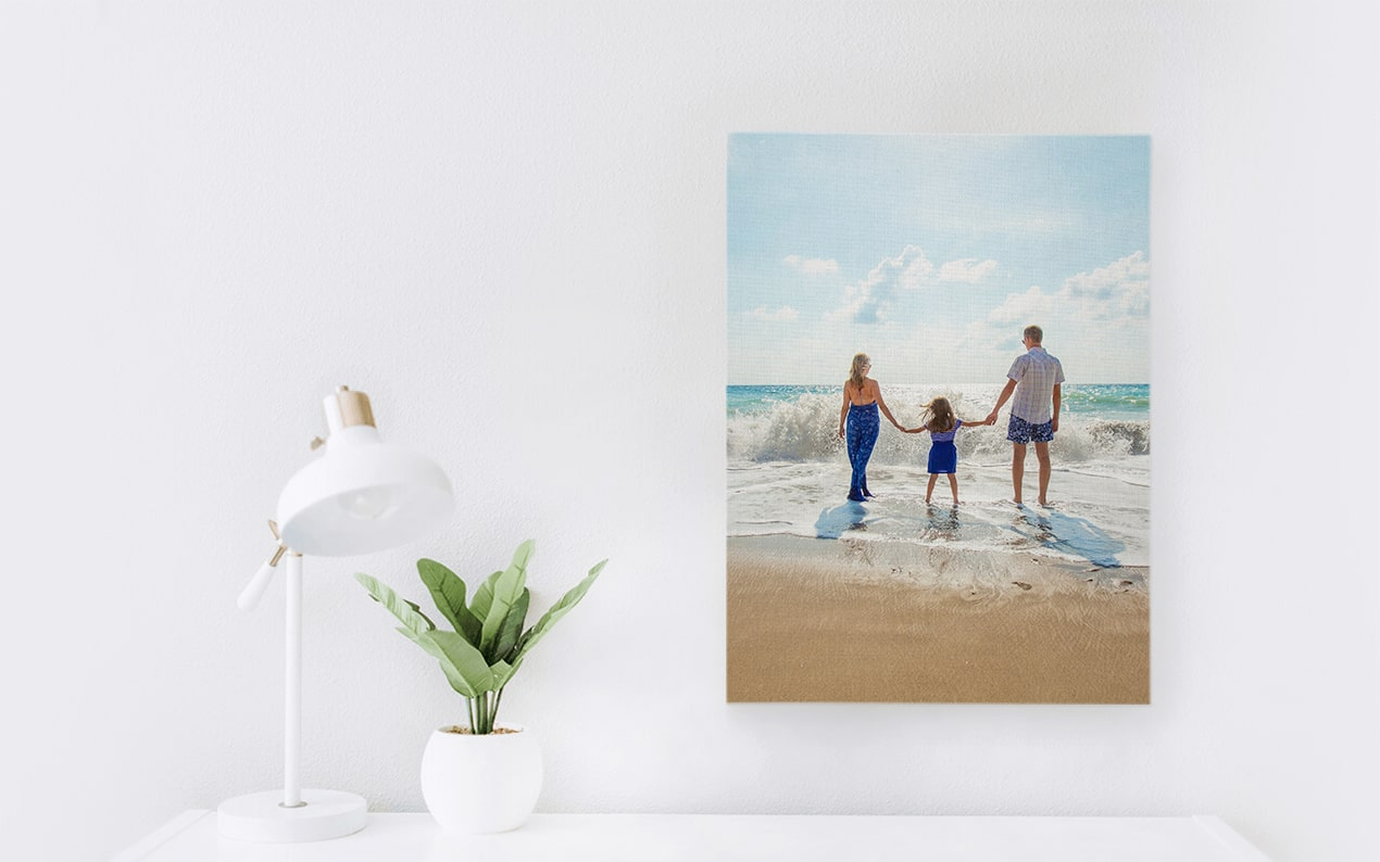We love printing photos on canvas.
